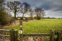 A public footpath in the countryside